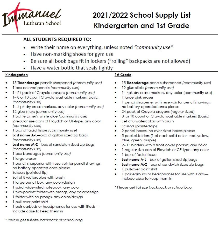 2021-2022_K-1_Supplies